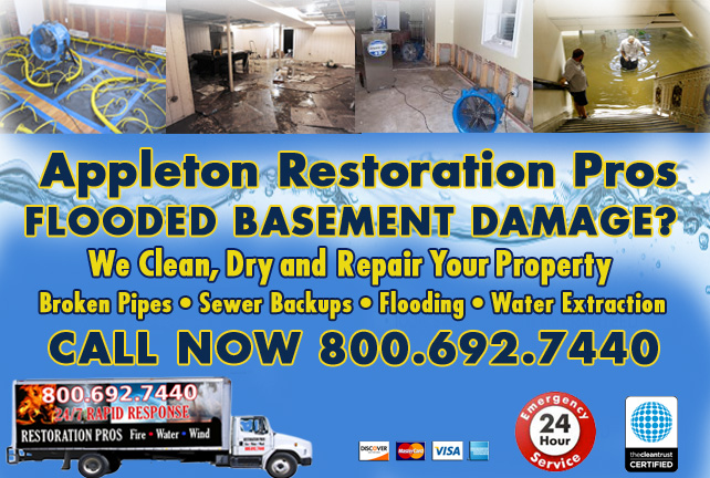 appleton flooded basement cleanup