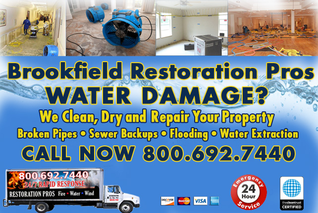 Brookfield water damage restoration