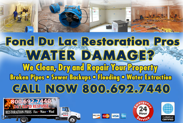 Fond Du Lac water damage restoration