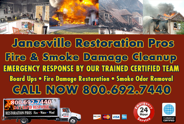 Janesville fire damage repair
