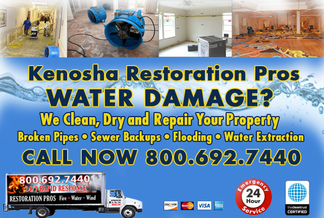 Kenosha water damage restoration