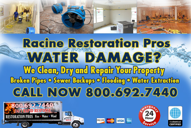 Racine water damage restoration