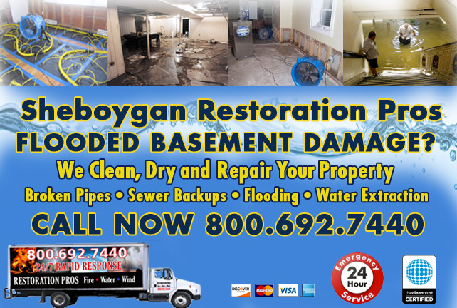 Sheboygan flooded basement cleanup
