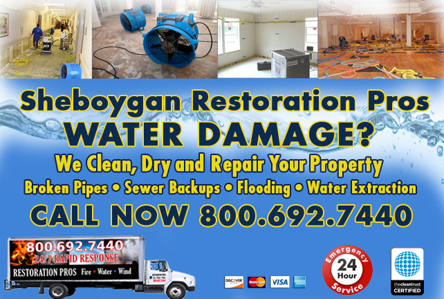 Sheboygan water damage restoration