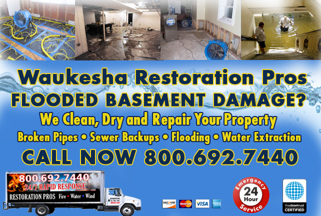 Waukesha flooded basement cleanup