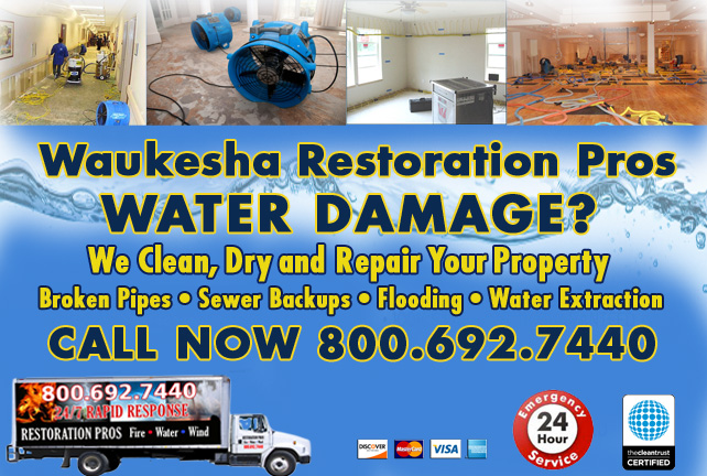 Waukesha water damage restoration