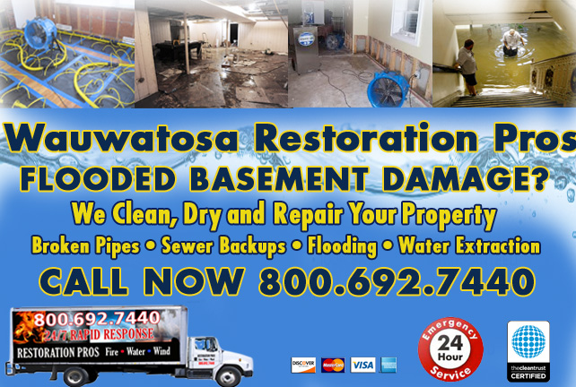 Wauwatosa flooded basement cleanup