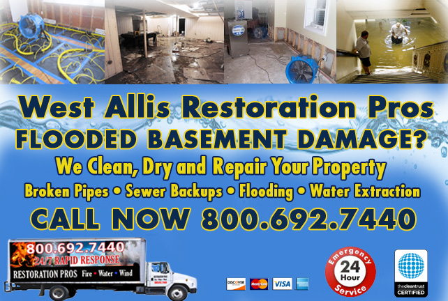 West Allis flooded basement cleanup